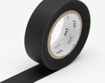 MT Black Washi Tape - Matte Black - MT Masking Tape