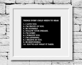 Children Quote, Kids Quote, Family Quote, Family Print, Children Print, Life Quote, Baby Shower Gift, Nursery Decor