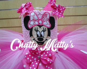 Pink Minnie Tutu Dress!
