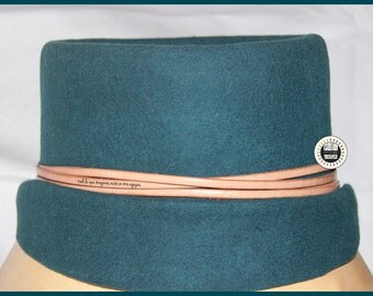 Felt green hat