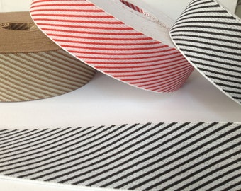 Striped Elastics, red white elastic, christmas elastic, xmas elastic