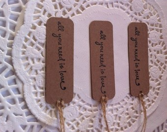 25 Hand-Stamped Vintage Style Wedding Favour/Gift/Business Tags