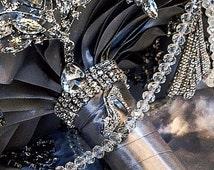 Cinderella Shoe Princess Brooch Bouquet. Deposit on Diamond Jeweled Crystal Bling Broach Bouquet. Quinceanera, sweet 16, or wedding!