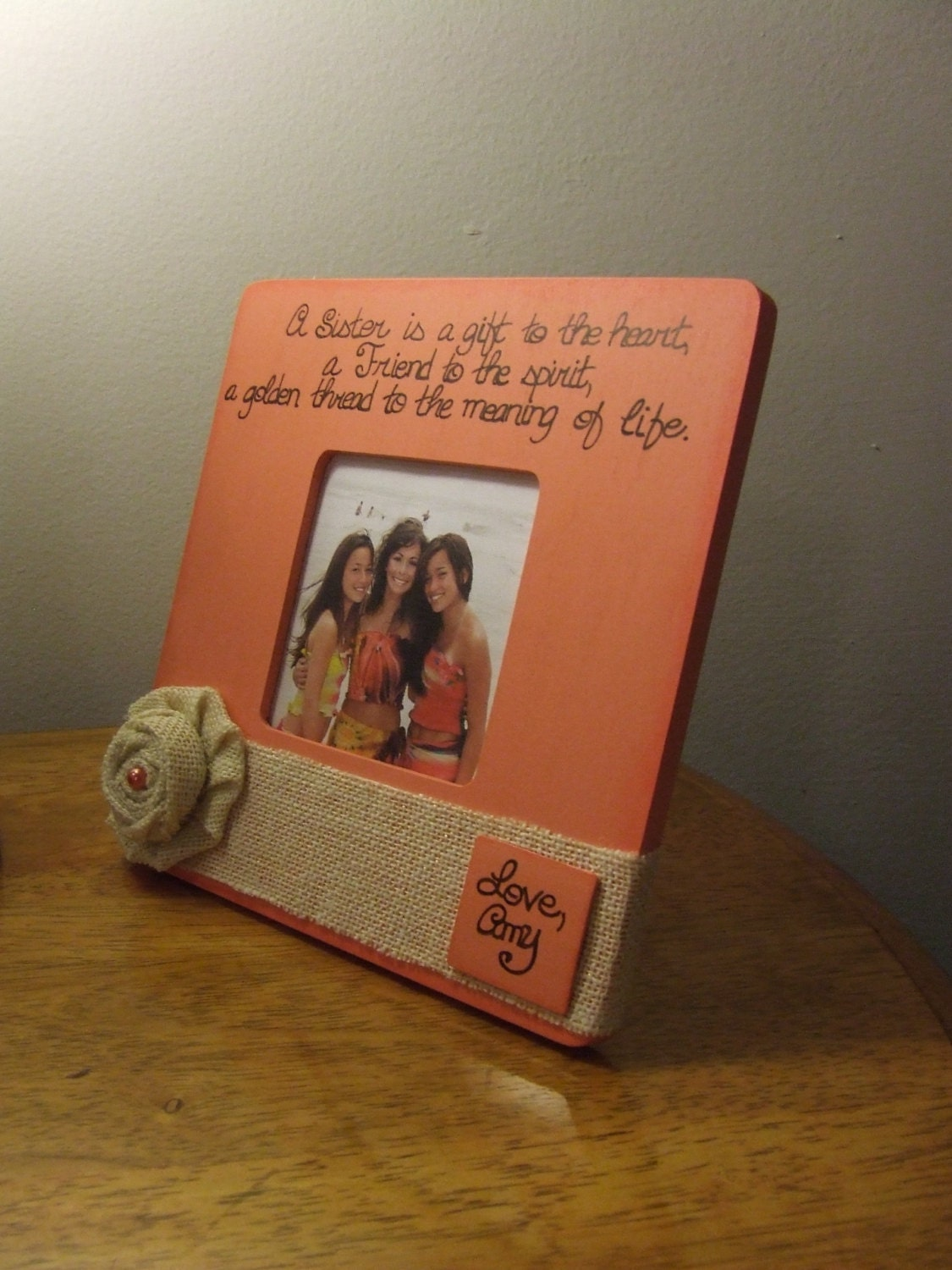 quote frame sisters frame best friend frame gift for sister a sister is a gift to the heart big sister frame big sister gi