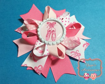 Ballet Hair Bow, Pink Ballet Slippers, Pink Ballet Bow