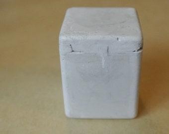 Cement Cube: Terrarium decor, house decor, paperweight, cement figurine home decor