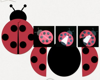 Lady Bug Card SVG, PSD, PDF +