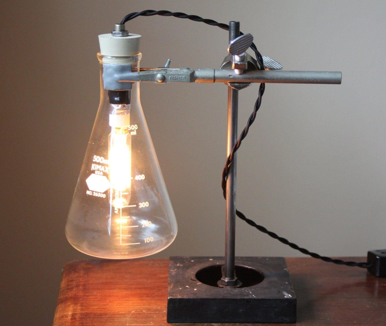 industrial desk lamp science lamp steampunk table lamp cool. Black Bedroom Furniture Sets. Home Design Ideas