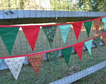 Christmas Banner holiday pennants flag bunting