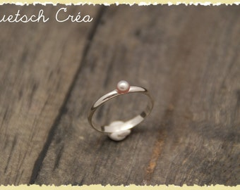 Ring Silver 925 & Freshwater Pearl