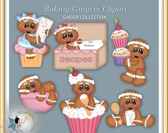 Gingerbread Clipart, Ginger, Baking Gingers