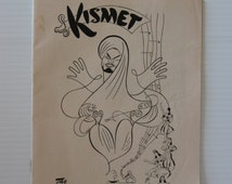 KISMET Ziegfeld Theatre PLAYBILL, 1954 vintage collectible, vintage paper ephemera, Collectible Souvenir, collectible play bill, Movie Prop