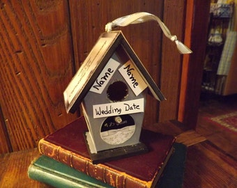 25th Anniversary Personalized Birdhouse Ornament