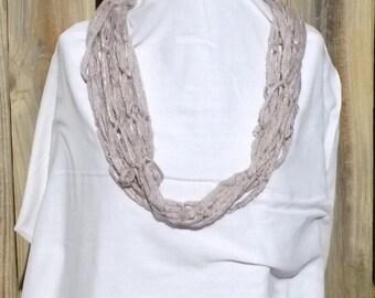 Metallic skinny scarf