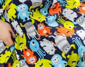 Monsters Fleece Fabric By The Yard