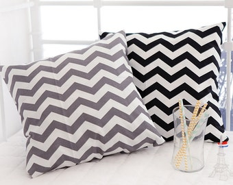Oxford Cotton Fabric Chevron in 2 Colors By The Yard