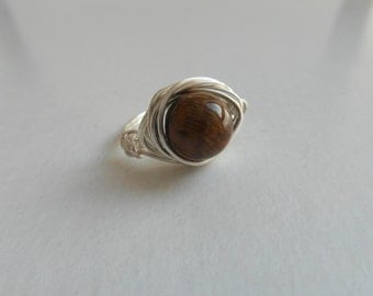 Wire Wrapped Indian Agate Ring