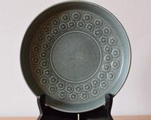 CHEAP SHIPPING Quistgaard - AZUR Blue - raised bowl - flower decor - Kronjyden - 1960s - Danish mid century