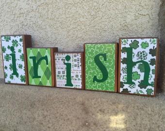 St. Patrick's Day blocks - irish