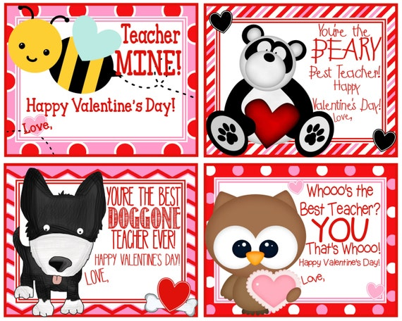 Eloquent image throughout printable teacher valentine cards free