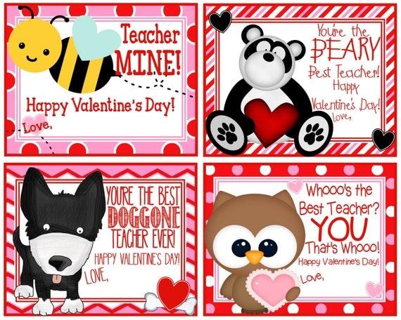 Teacher Valentineu0027s Card Printable Teacher Cards   Teacher Valentines