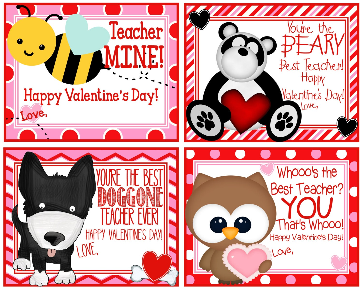 Clever image regarding printable valentine cards for teachers