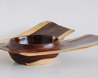 Sycamore Wooden Winged Bowlhandmade Woodturning By Pjwoodcraft