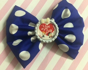 I Love Lucy Hair Bows