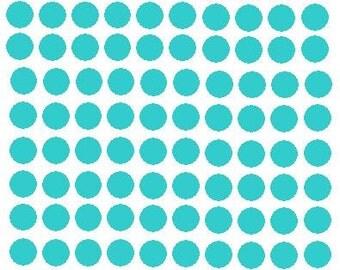 Polka dots in 1-inch size, 100 dots per sheet, vinyl - custom colors