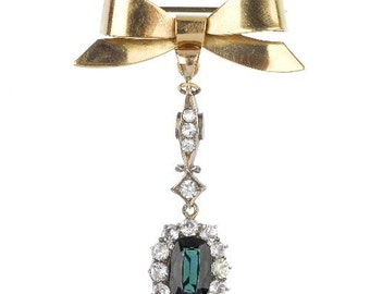 TOURMALINE and Gold Brooch