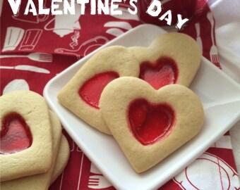Stained Glass Valentine Cookies - 1/2 dz