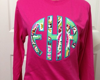8 Inch Appliqued Long Sleeve T-Shirt