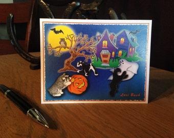 October - Halloween Schnauzer Notecards