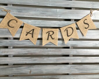 Cards Burlap Banner, Wedding Burlap Banner, Gift Banner, Cards Banner, Wedding Banner, Birthday Banner, Birthday Card Banner