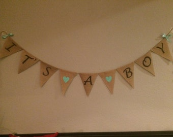 It's a Boy Burlap Banner, It's a Boy Banner, It's a Boy Sign, Baby Boy Burlap, Boy Sign, Boy Baby Shower, Baby Announcement