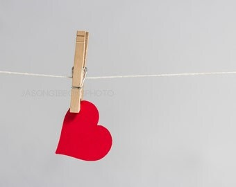 Heart On a String Photography, Wall Art, Home Decor, Office Decor, Still Life, Photography