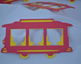 Trolley decorations (garland/single hang)- Inspired by Daniel the Tiger