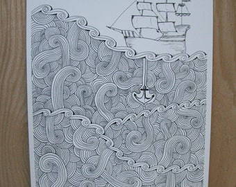 """Ship Ink Print - """"Hold Steady"""""""