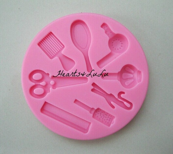 Items similar to Hairdresser Silicone Mold, fondant mold ...