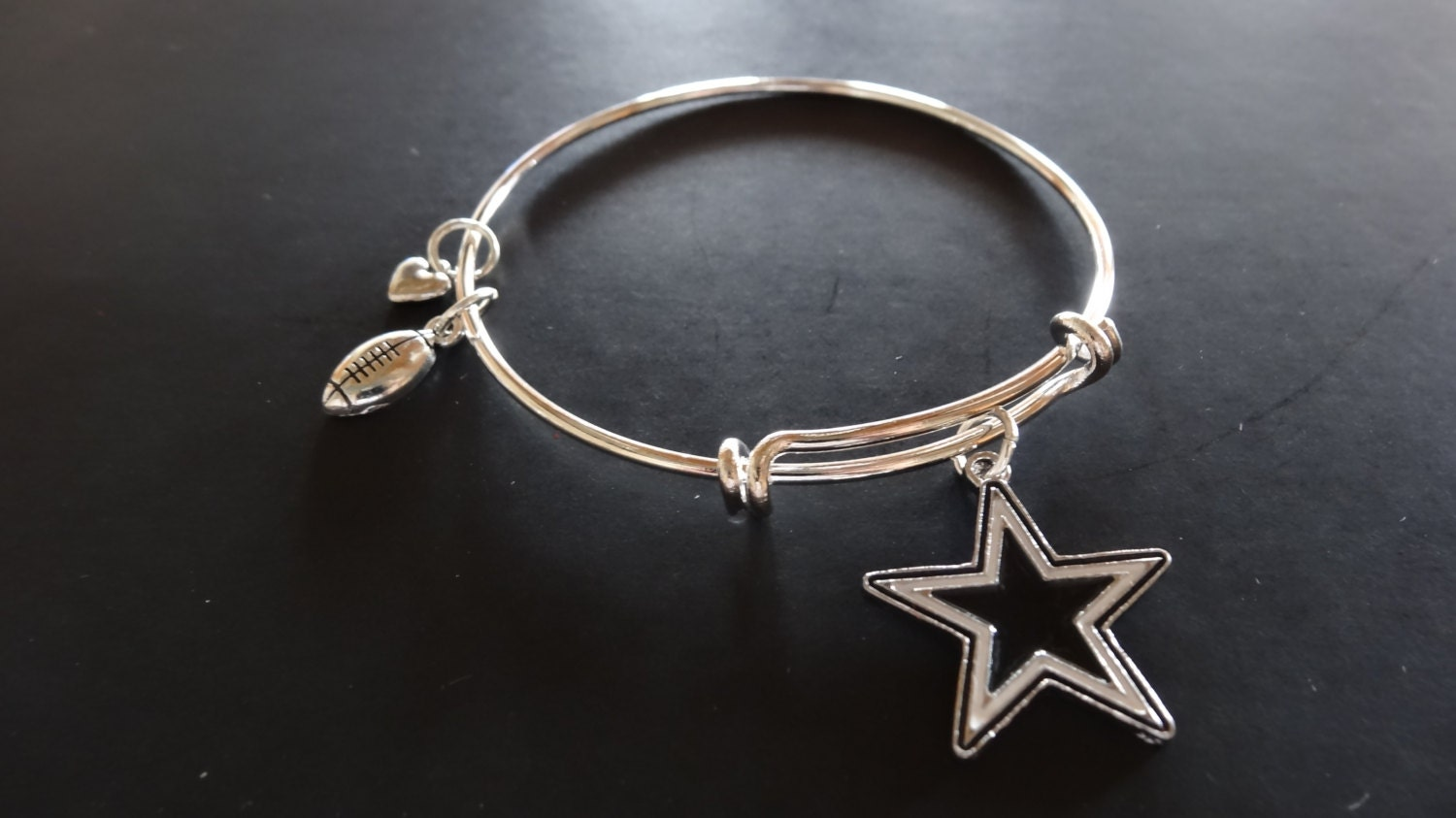 dallas cowboys bracelet with charms and free by brunosbling