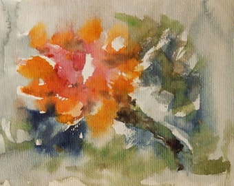 Flower Painting, Watercolor Flower Painting, Flowers, Contemporary Art, Modern Painting, Modern Art