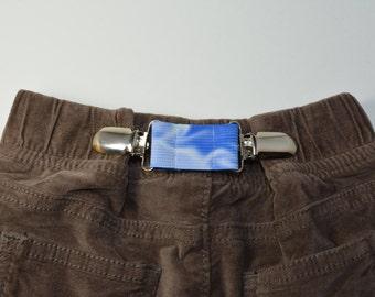 ELASTIC CLIP BELT. Children's belt. Baby belt. Toddler belt. Kid's belt. Cinch clip. Pant cinch. Waistband tightener. Cloud elastic belt.