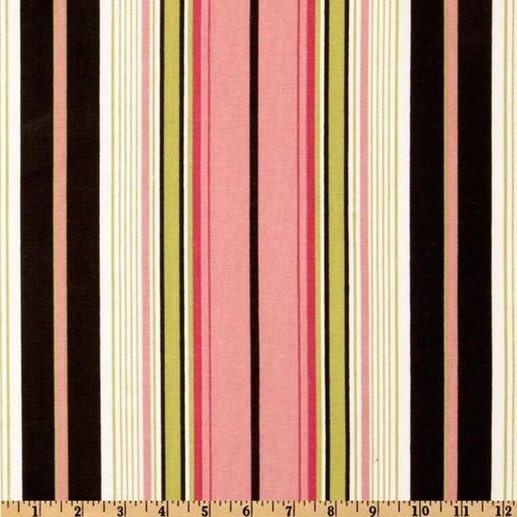 ... Terrace Stripe Black/Pink - Lined Curtain Panels - Multiple Sizes