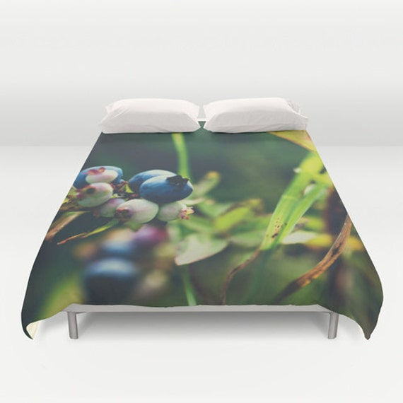 Duvet Cover, Blue and Green, Natural Colors, Twin Full Queen King, Nature Photography, Photo Bedding, Unique Bedroom, Boundary Waters