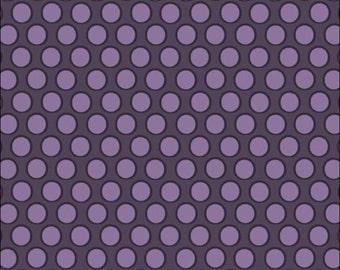 100% Cotton Fat Quarter Makower Walkabout Spots in Purple