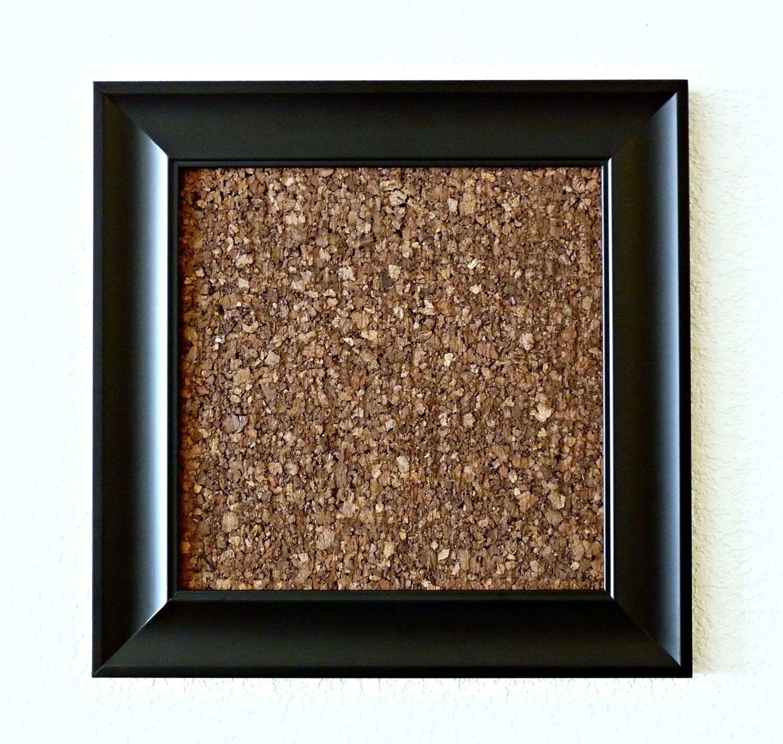 Modern Black Framed Cork Board