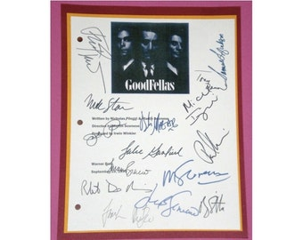 Goodfellas 1990 Movie Script Signed Autographed Martin Scorsese, Ray Liotta, Robert De Niro, Lorraine Bracco, Paul Sorvino