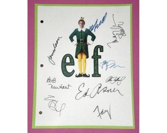 Elf Entire Movie Script Screenplay Autographed: Will Ferrell, Bob Newhart, Ed Asner, James Caan, Zooey Deschanel, Mary Steenburgen