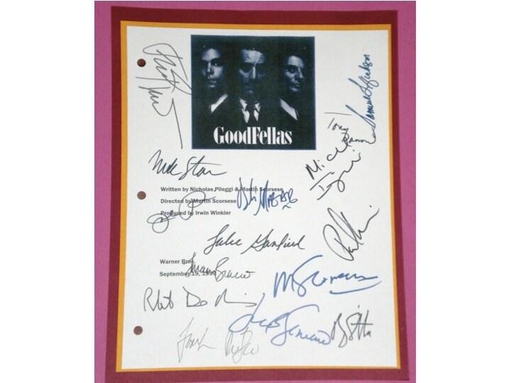Goodfellas 1990 Movie Script Signed Autographed Martin