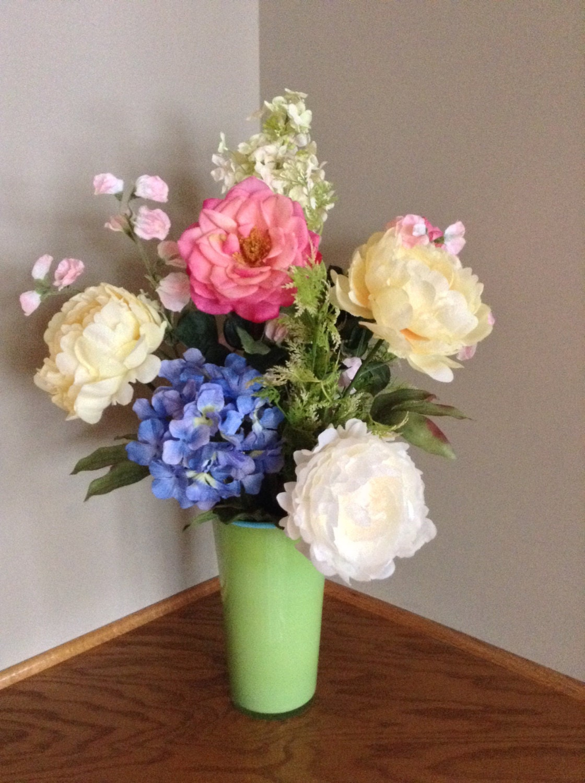 artificial floral arrangement handmade large by. Black Bedroom Furniture Sets. Home Design Ideas